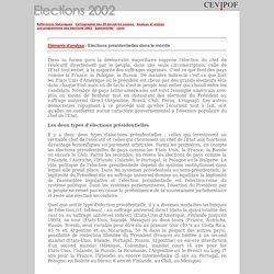 éléments - Élections présidentielles dans le monde