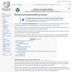 Élections professionnelles en France