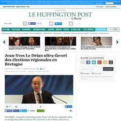 Jean-Yves Le Drian ultra-favori des élections régionales en Bretagne