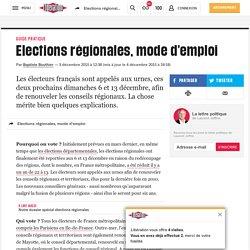 (2) Elections régionales, mode d'emploi
