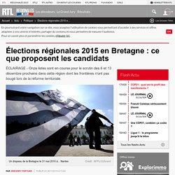 Élections régionales 2015 en Bretagne : ce que proposent les candidats