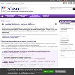 Parents d'élèves - Élections des représentants des parents d'élèves