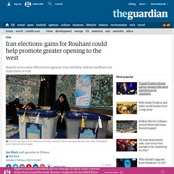 Iran elections: early results show reformists and moderates lead race