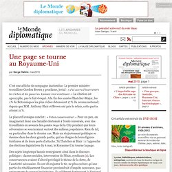 Une page se tourne au Royaume-Uni, par Serge Halimi (Le Monde di