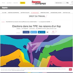 Elections dans les TPE: les raisons d'un flop