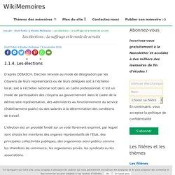 Les élections: Le suffrage et le mode de scrutin - WikiMemoires