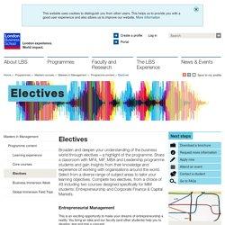 electives#