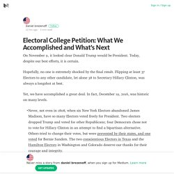 Electoral College Petition: What We Accomplished and What's Next
