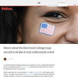 Here's what the Electoral College map would look like if only millennials voted