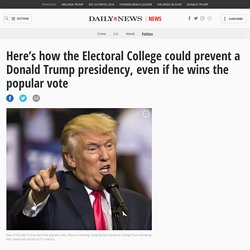 Here's how the Electoral College could prevent a President Trump