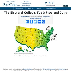 The Electoral College: Top 3 Pros and Cons - ProCon.org