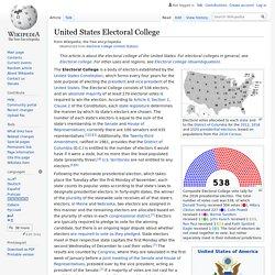 Electoral College (United States) - Wikipedia