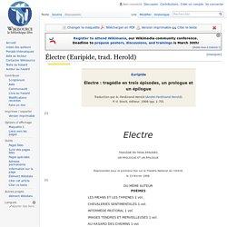Électre (Euripide, trad. Herold)