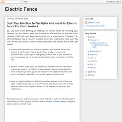 Buy An Electric Livestock Fence