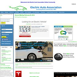 Electric Auto Association - Electric Vehicles and Cars