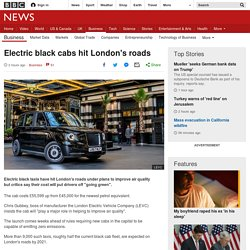 Electric black cabs hit London's roads