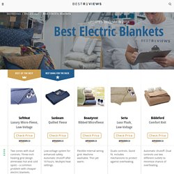 5 Best Electric Blankets - Jan. 2017 - BestReviews