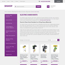 Electric Chain Hoist Suppliers UK - Buy Electric Hoist @ Best Price