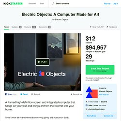 Electric Objects: A Computer Made for Art by Electric Objects