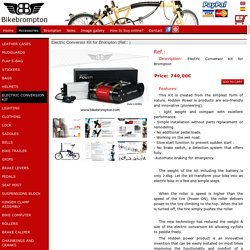ELECTRIC CONVERSION KIT Brompton