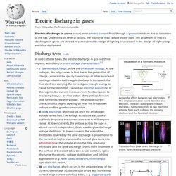 Electric discharge in gases