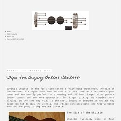 Tips For Buying Online Ukulele