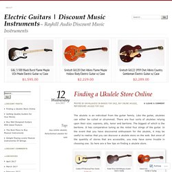 Finding a Ukulele Store Online