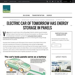 Electric Car Of Tomorrow Has Energy Storage In Panels