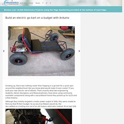 Build an electric go-kart on a budget with Arduino