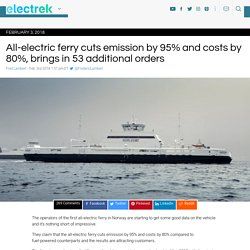 All-Electric Ferry cuts emission by 95% & costs by 80%