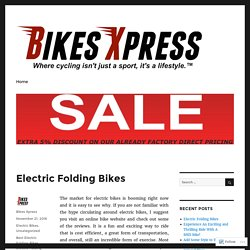 Electric Folding Bikes – Bikes Xpress