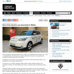 Kia's first electric car launched in Malta