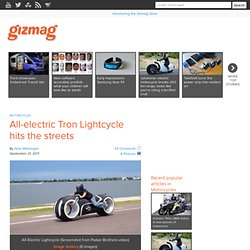 All-electric Tron Lightcycle hits the streets
