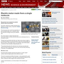 Electric motor made from a single molecule