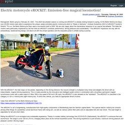 Electric motorcycle eROCKIT: Emission-free magical locomotion!
