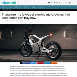These are all the low-cost electric motorcycles available now in the USA