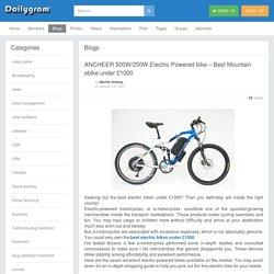 ANCHEER 500W/250W Electric Powered bike – Best Mountain ebike under £1000