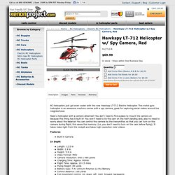 Hawkspy LT-712 Helicopter Red (Red) - Electric RC Helicopters - XenonProject.com