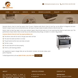 Electric Oven and Cook Top Repairs in Melbourne