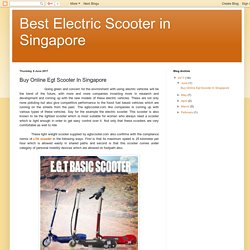 Buy Online Egt Scooter In Singapore