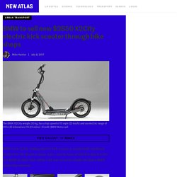 BMW to sell new $2850 X2City electric kick scooter through bike shops