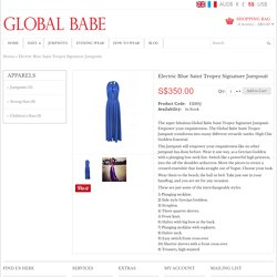 Electric Blue Saint Tropez Signature Jumpsuit