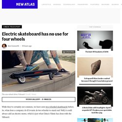 Electric skateboard has no use for four wheels