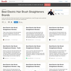 Best Electric Hair Brush Straighteners Brands