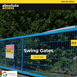 Swing Gates in Leeds and Throughout the UK