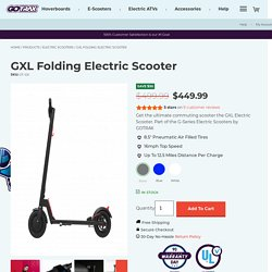 GXL Folding Electric Scooter - The Ultimate Commuting E Scooter