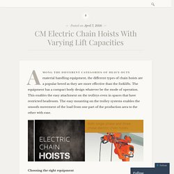 CM Electric Chain Hoists With Varying Lift Capacities