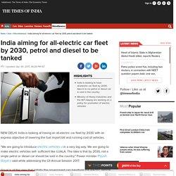 India's New Cars 100% EV