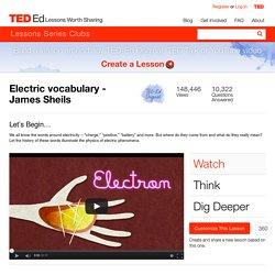 Electric vocabulary - James Sheils