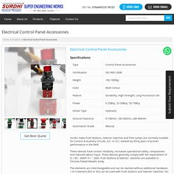 Electrical Control Panel Accessories Exporters